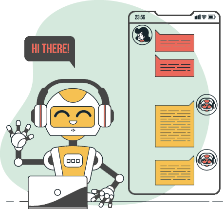 Automated Bot Question Based Free Chat Button & Widget for Website